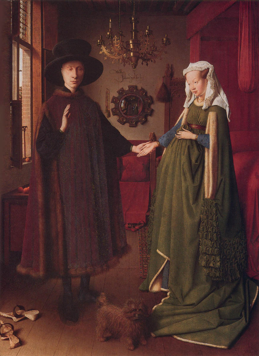 ARNOLFINI WEDDING PORTRAIT BY VAN EYCK 1434