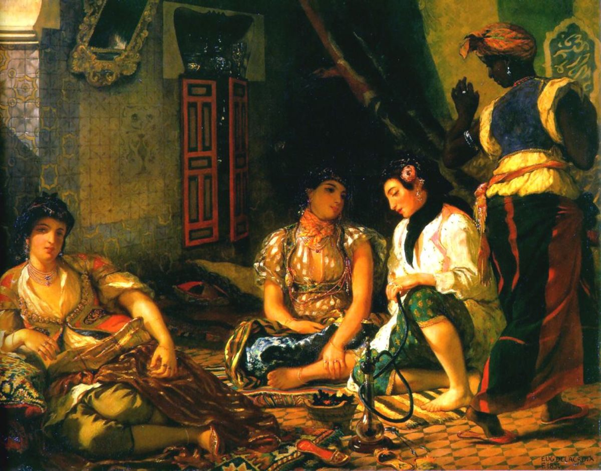 WOMEN OF ALGIERS BY DELACROIX 1834
