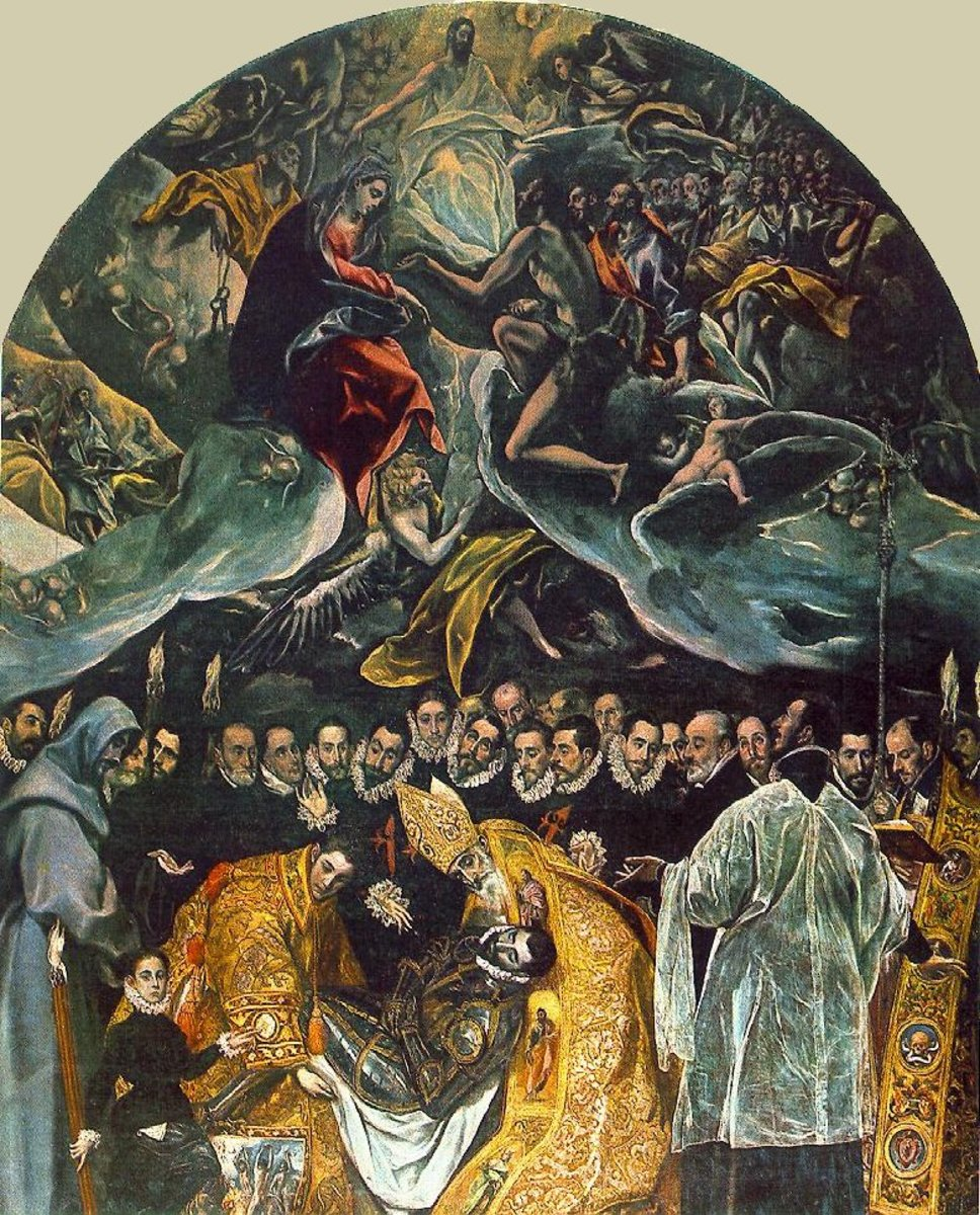THE BURIAL OF COUNT ORGAZ BY EL GRECO 1586