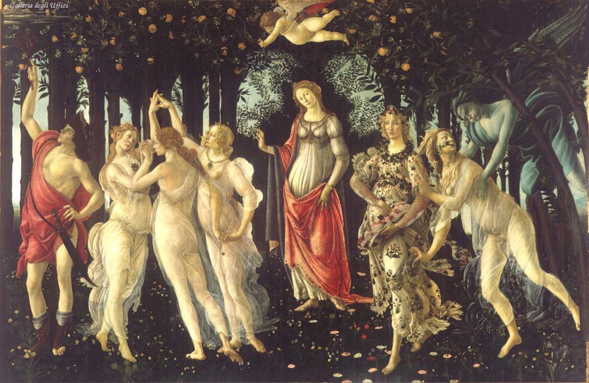 PRIMAVERA BY BOTTICELLI 1477
