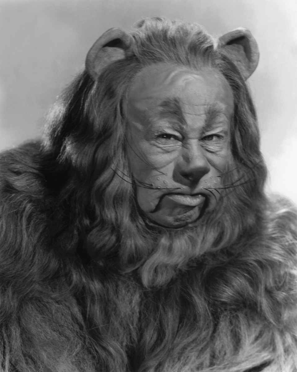 The cowardly lion who truly was afraid but found the courage when he really needed it.