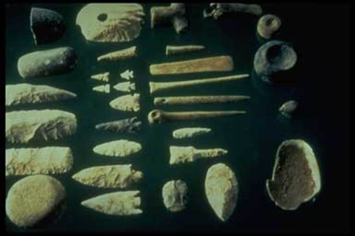 Prehistoric stone implements