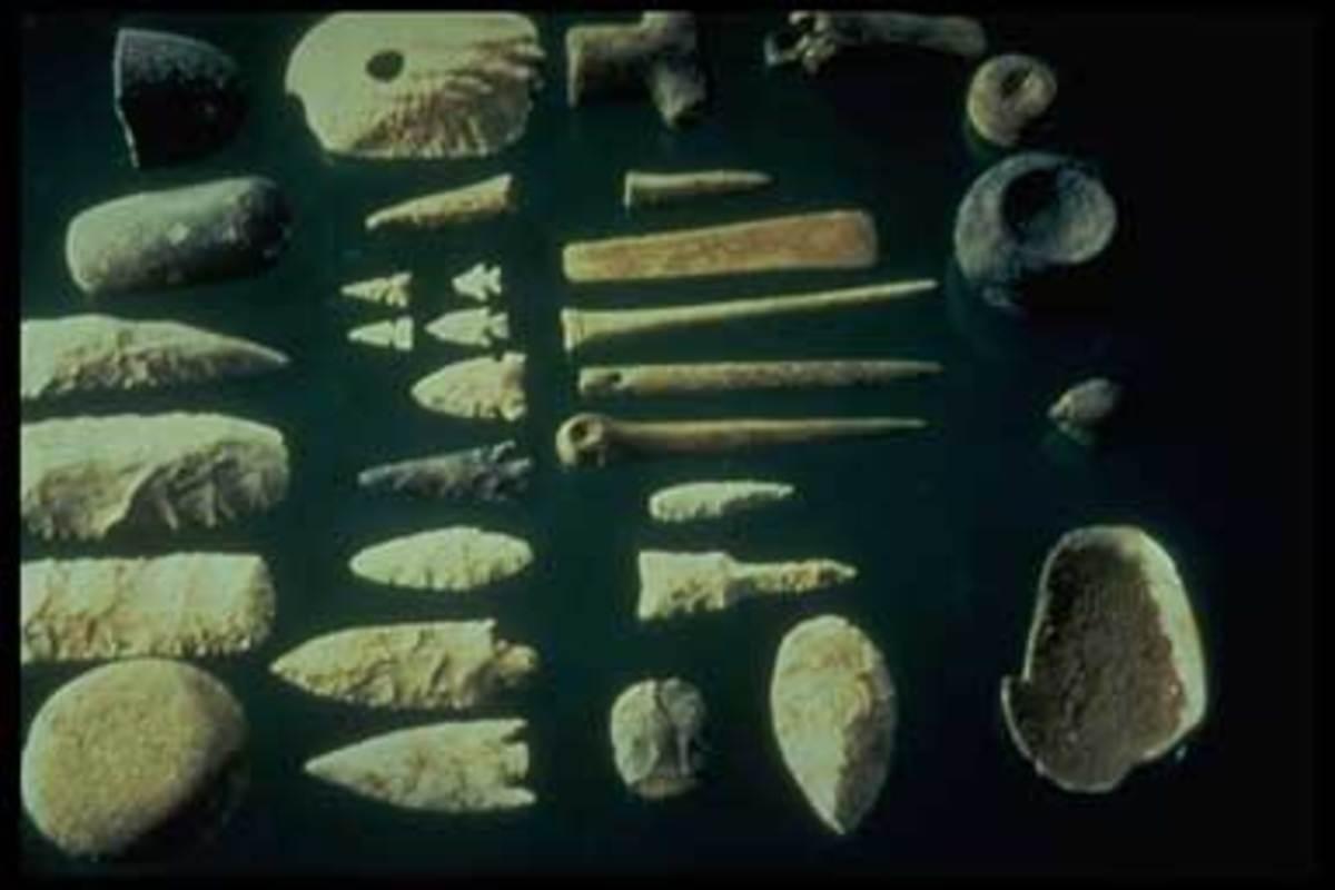Prehistoric stone implements