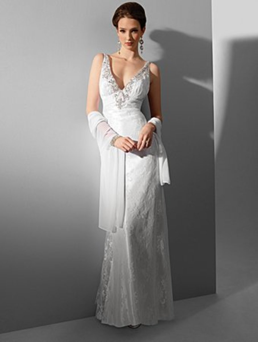 Destination Wedding Dress: Alfred Angelo Nikki White Collection Wedding Dress Style  Style 16548     * Lace Chiffon       Sweep Train