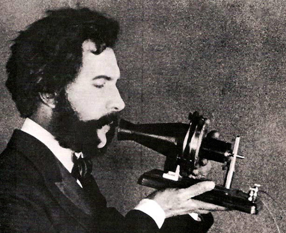 Alexander Graham Bell and his phone
