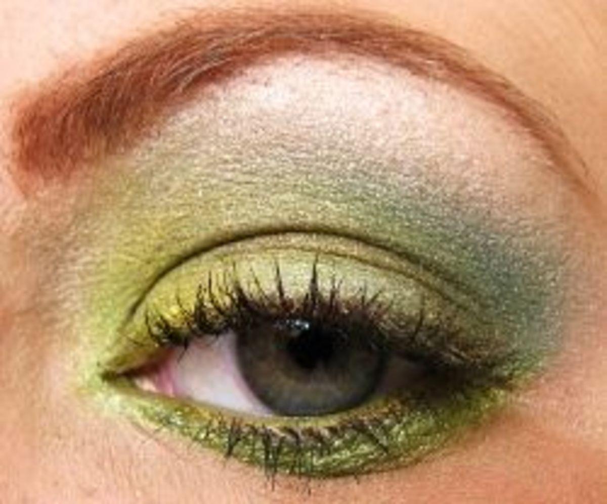 Chartreuse eyeshadow