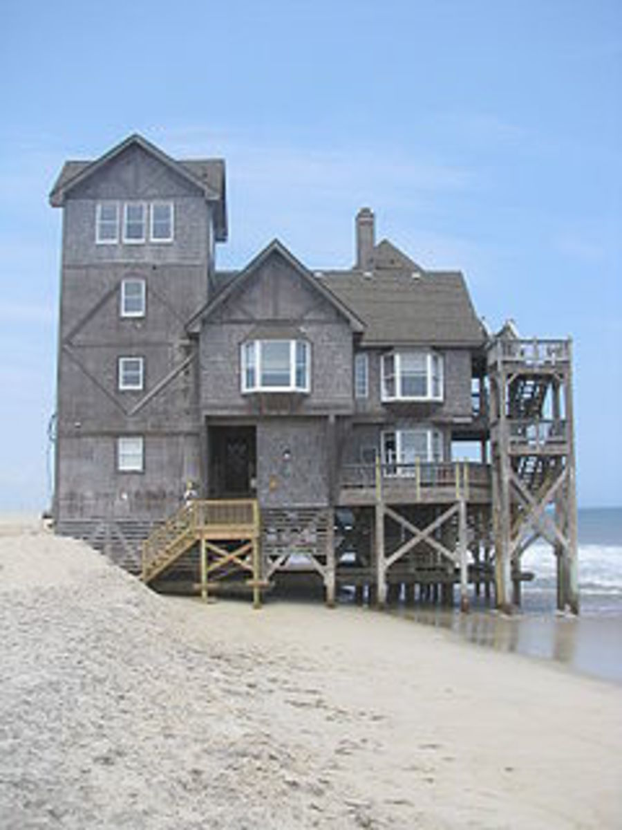 The house that was used as the inn in Nights of Rodanthe the movie. Nights in Rodanthe was filmed in Rodanthe, North Carolina. This house, associated with the romantic movie, has been a tourist attraction.