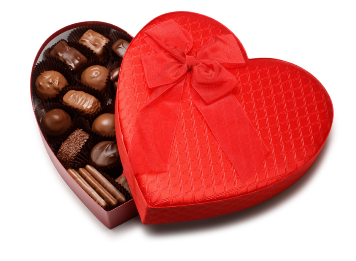Traditional Heart-Shaped Love in a Box