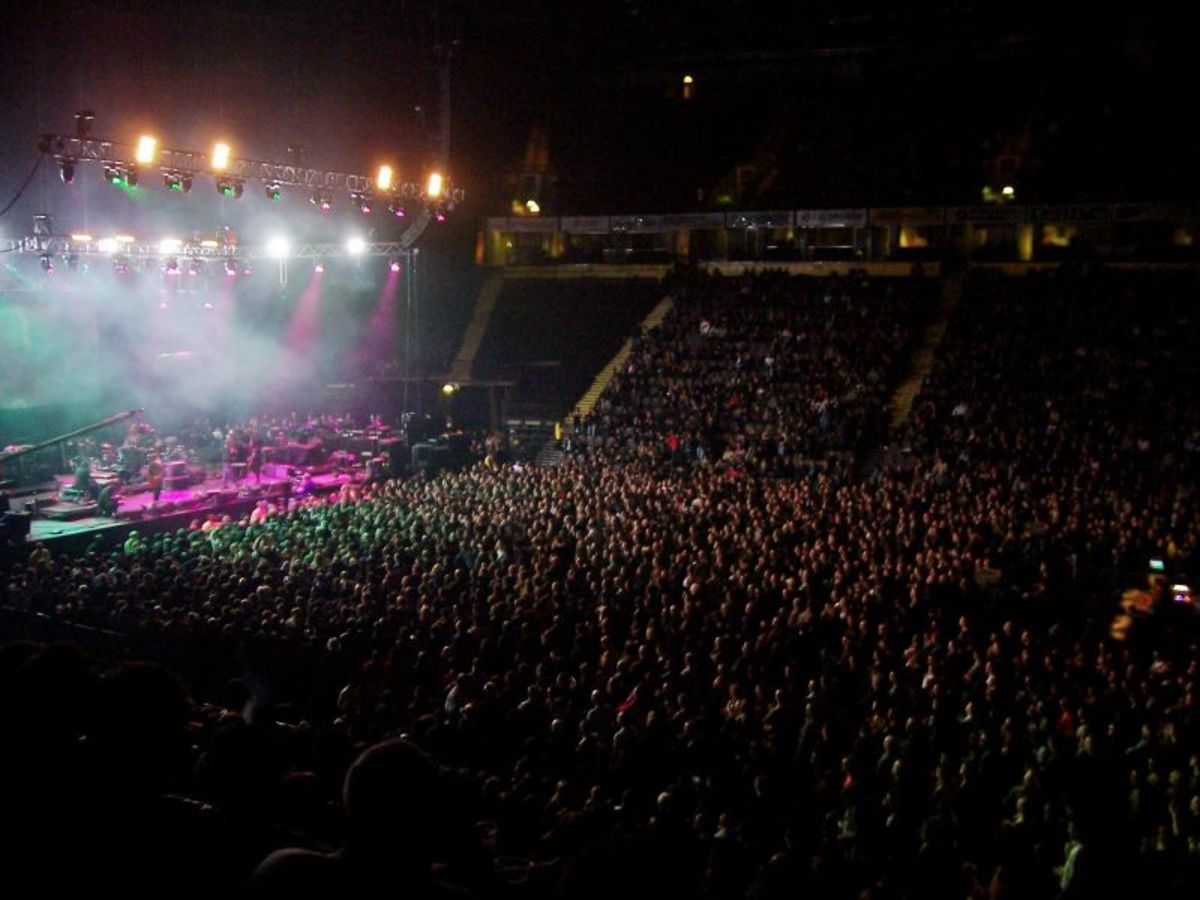 Concert crowd in Manchester.