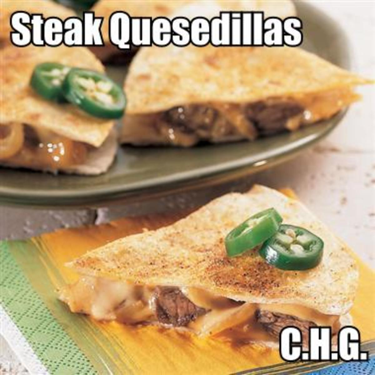 Here's a recipe for the most delicious steak quesadillas you will ever eat.