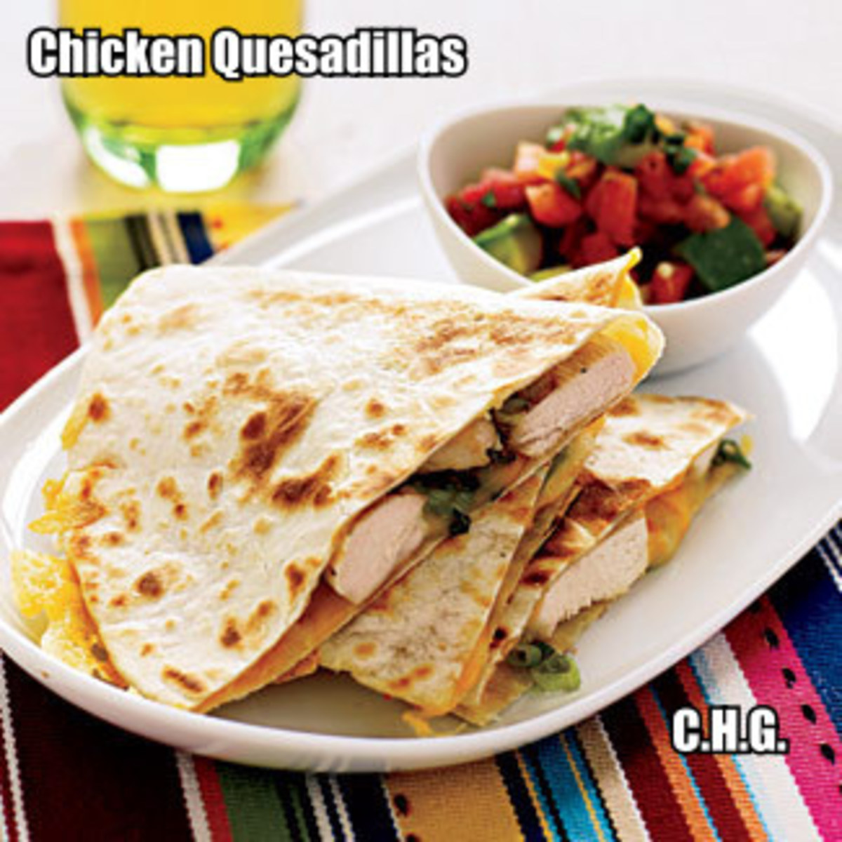 Here is the recipe for some of the most delicious chicken quesadillas you will ever eat.