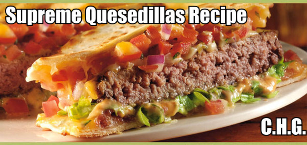 Here is the recipe for the most delicious Quesadilla Supremes you will ever eat.
