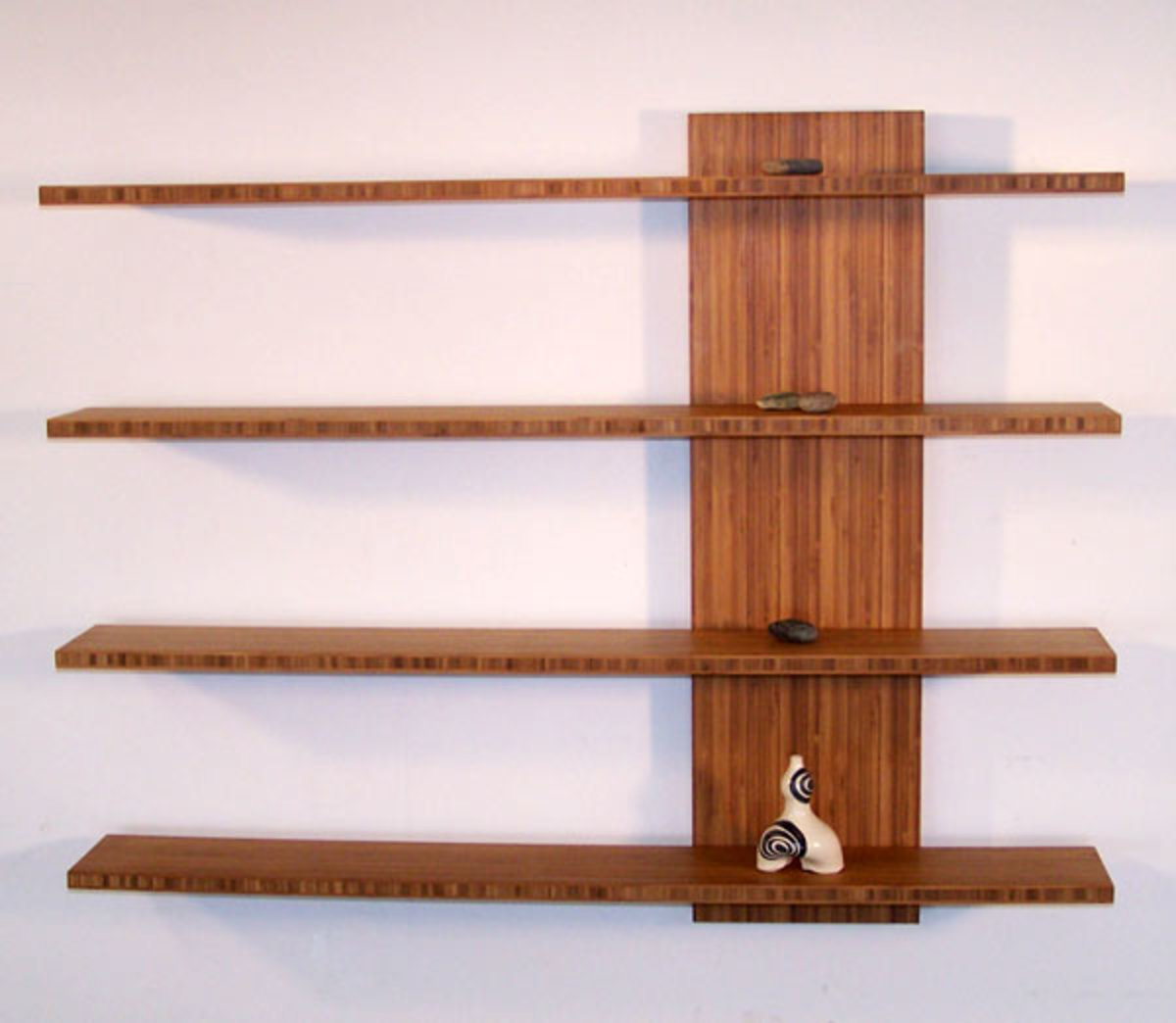 Simple wooden floating shelves