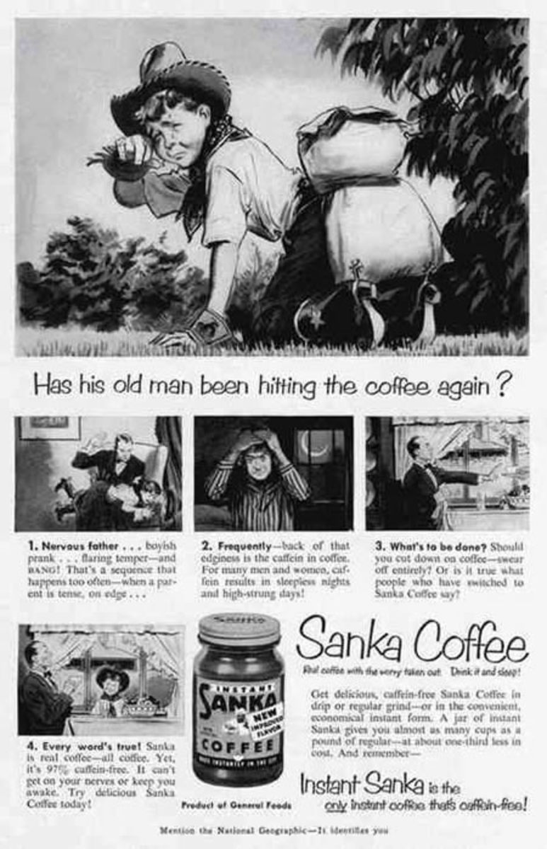 if you are beating your child,decaf coffee is the least of your problems...