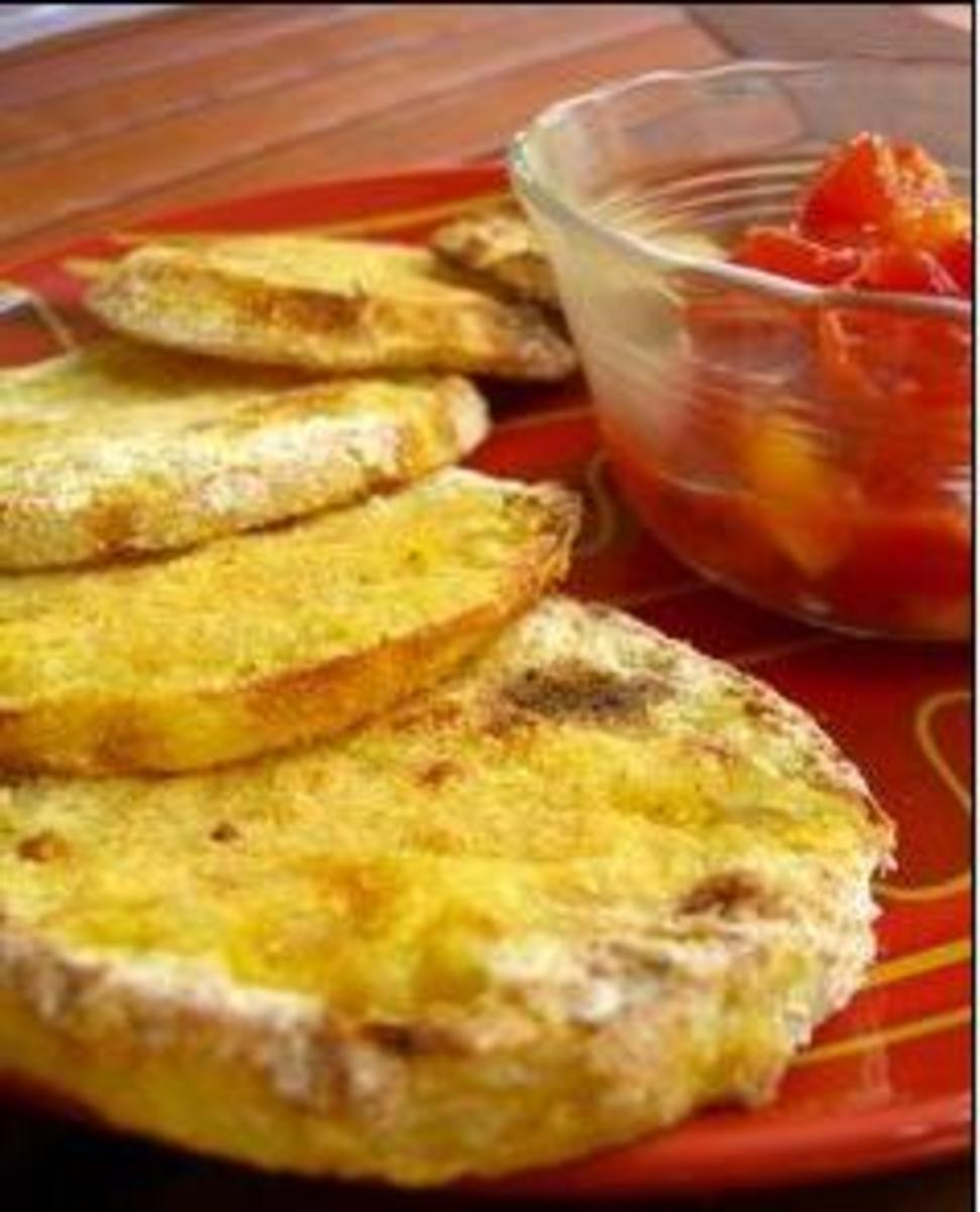 Delicious Oven Fried Green Tomatoes. Yes you can do them in the oven and they are still delicious.
