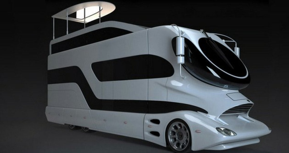 The Chevy Corvette car and speedboat hybrid might be the slickest amphibious vehicle on the planet, but when it comes to campers, nothing compares to the luxury the Elemment Palazzo offers. The mere mention of campers and RVs invokes images of crampe