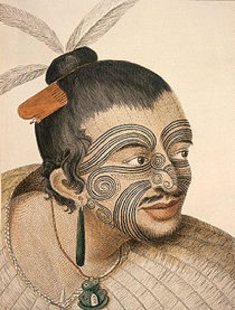 Drawing Of Maori Chief