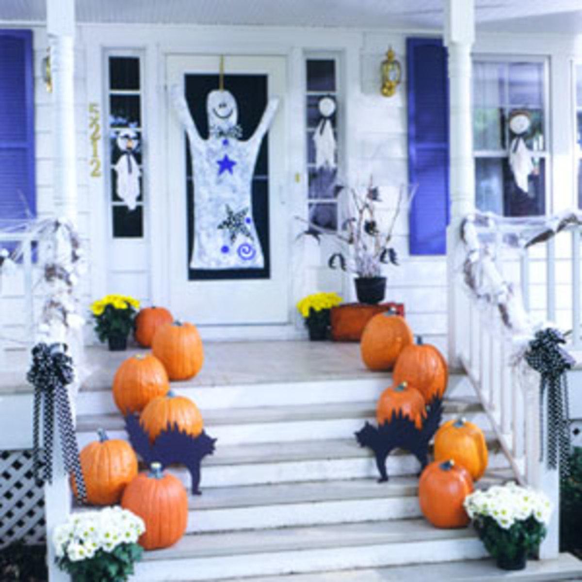 Outdoor halloween decorations for Outdoor halloween decoration ideas