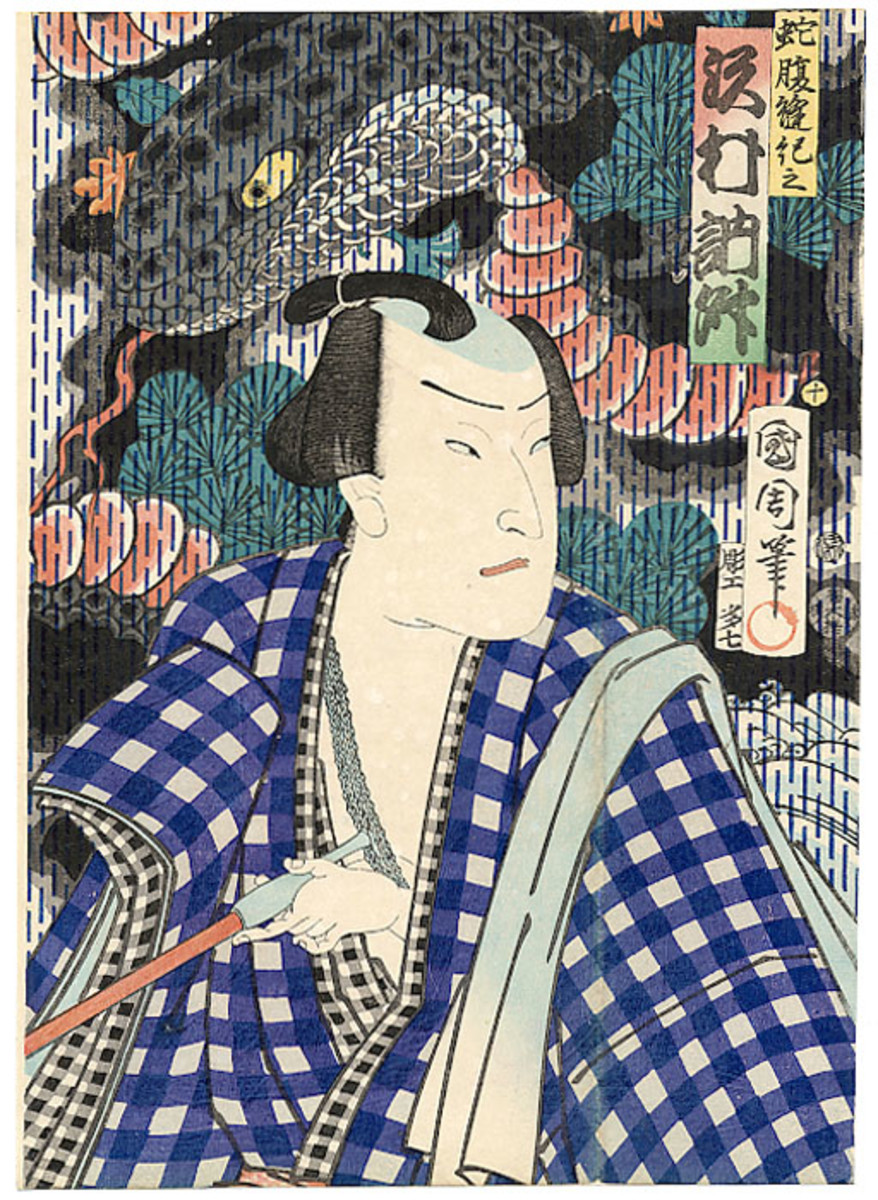 Kubuki theatre was a social event in which the male actors played all roles within the story set in music; without words.