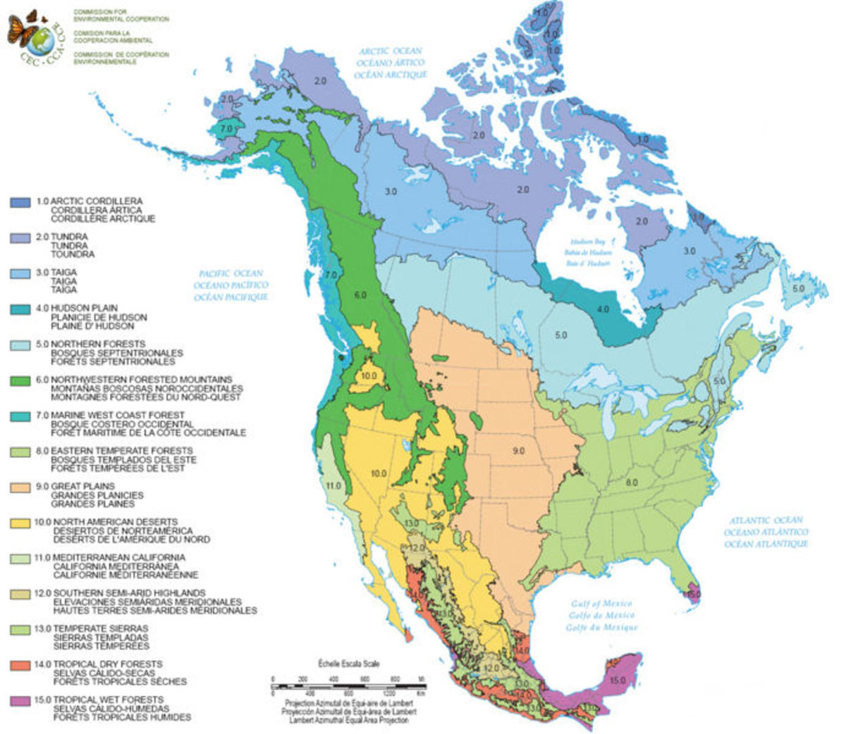 Partitioning America A Bioregional Approach HubPages - Map of us bioregions ancient food traditions