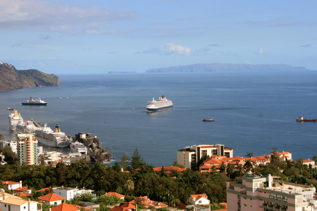 Overlooking the busy cosmopolitan city of Funchal