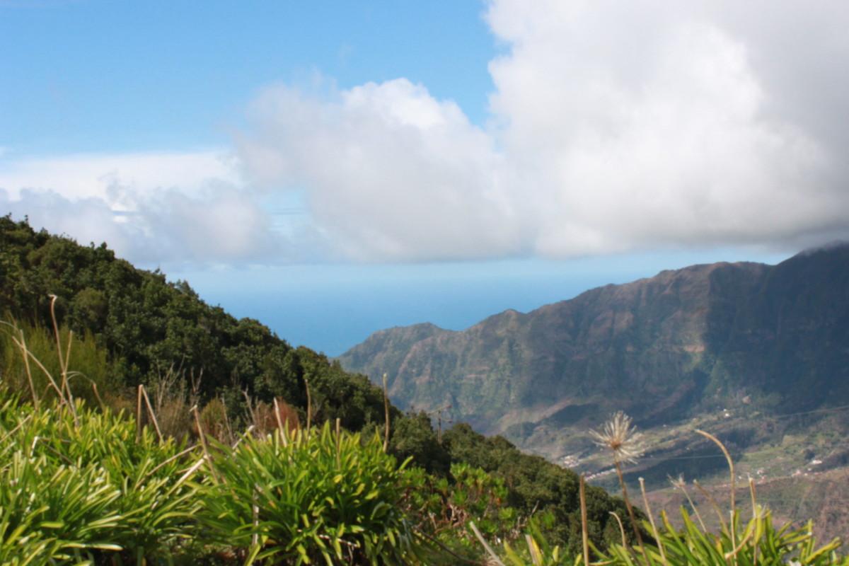The beautiful rugged mountain terrain over Serra da Agua, a hikers dream come true