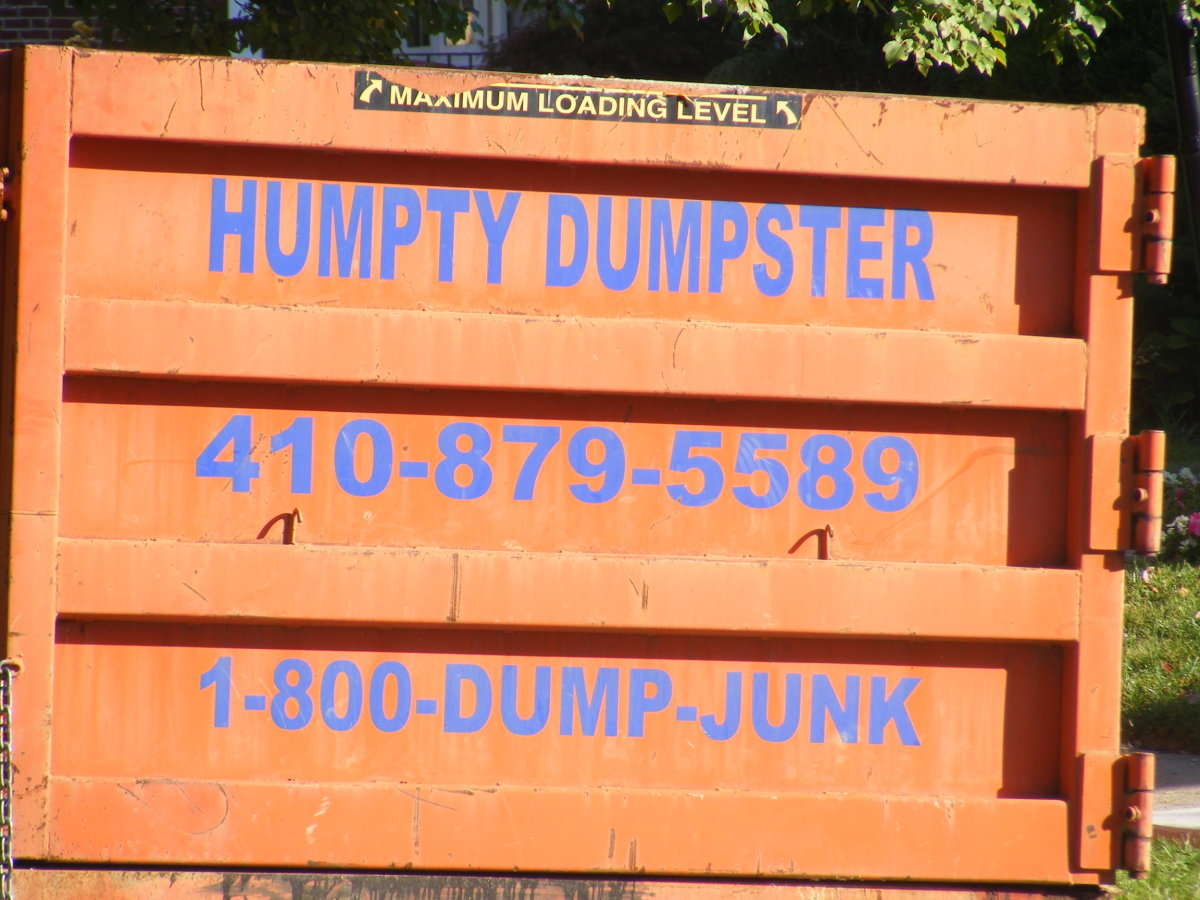 clever, funny and memorable business name - Humpty Dumpster