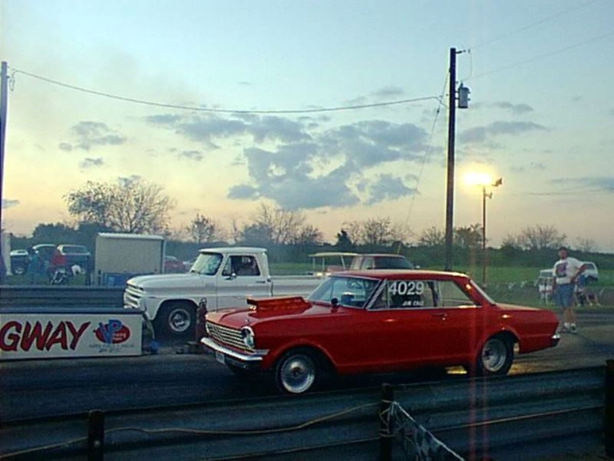 Racing at the North Texas Dragway on the eighth mile track