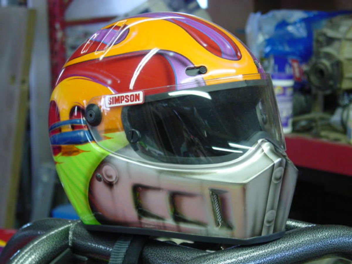 RacerX's Custom Painted Simpson Helmet