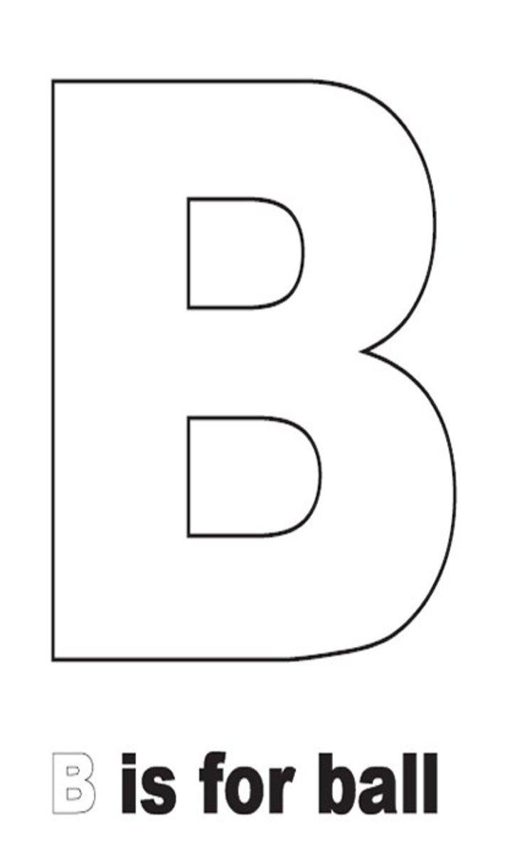 sign language alphabet letter b coloring pages