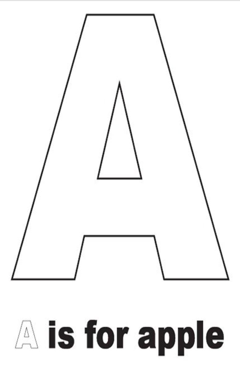 Coloring Page Letter A - Auromas.com