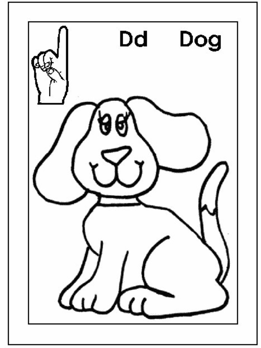 Sign Language Alphabet Free Coloring Pages Apple to Ice