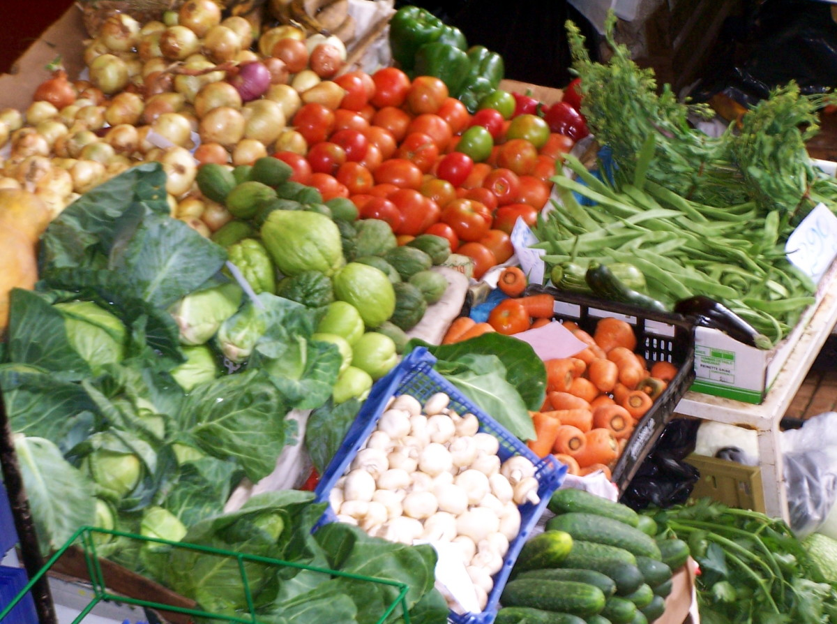 Funchal market is an abundance of smells and colours