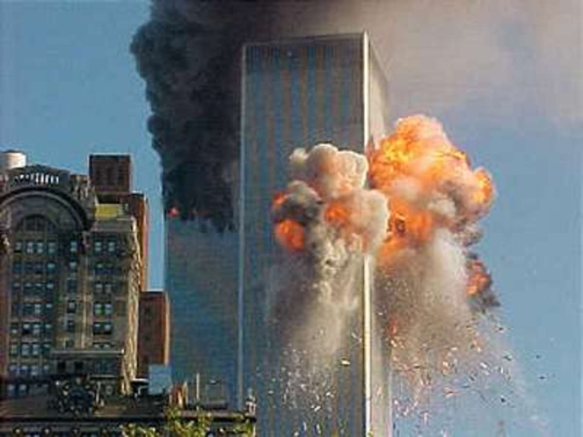 United Airlines, Flight 175, a Boeing 767, on a scheduled flight from Boston to Los Angeles, crashes into the south tower of the World Trade Center in New York.