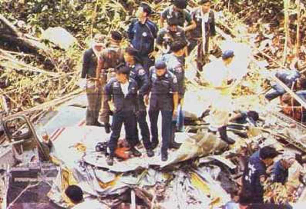 Lauda Air Flight 004 crashed into the jungles of Thailand after the No. 1 thrust reverser inadvertently deployed while the aircraft was at 31,000 feet causing the plane to plunge to the ground.