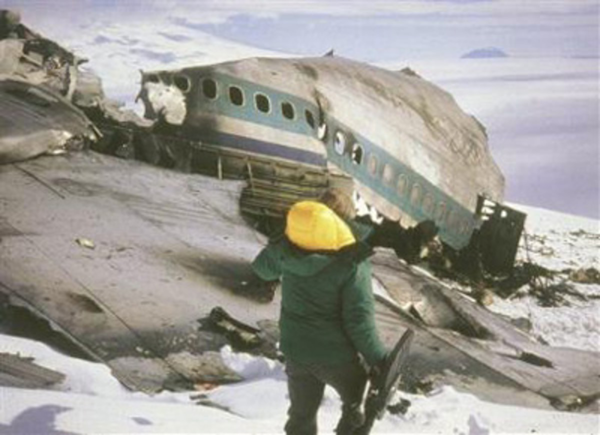 Started out as an Antarctic sightseeing tour, ended in disaster, when this  Air New Zealand DC-10 crashed into Mt