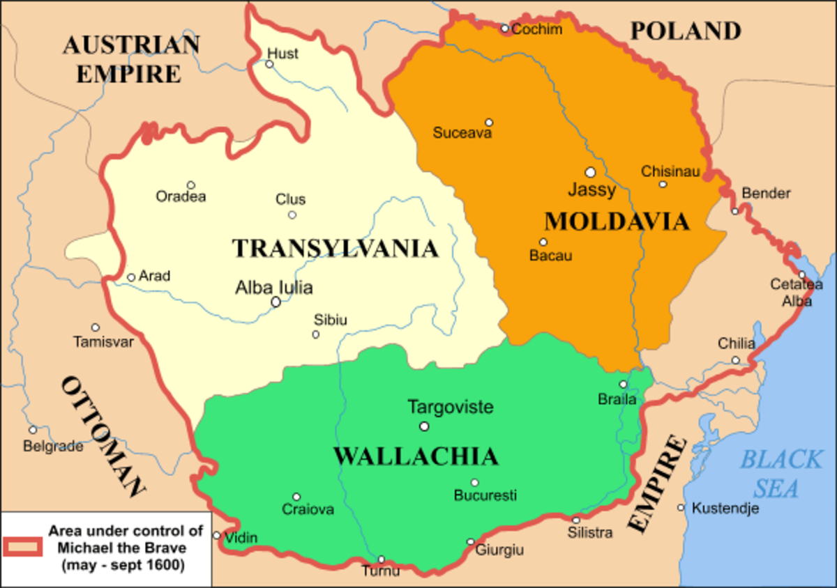 Under Michael the Brave, a Prince of Wallachia Translyvania was united with Wallachia and Moldavia, for about a year in 1600.