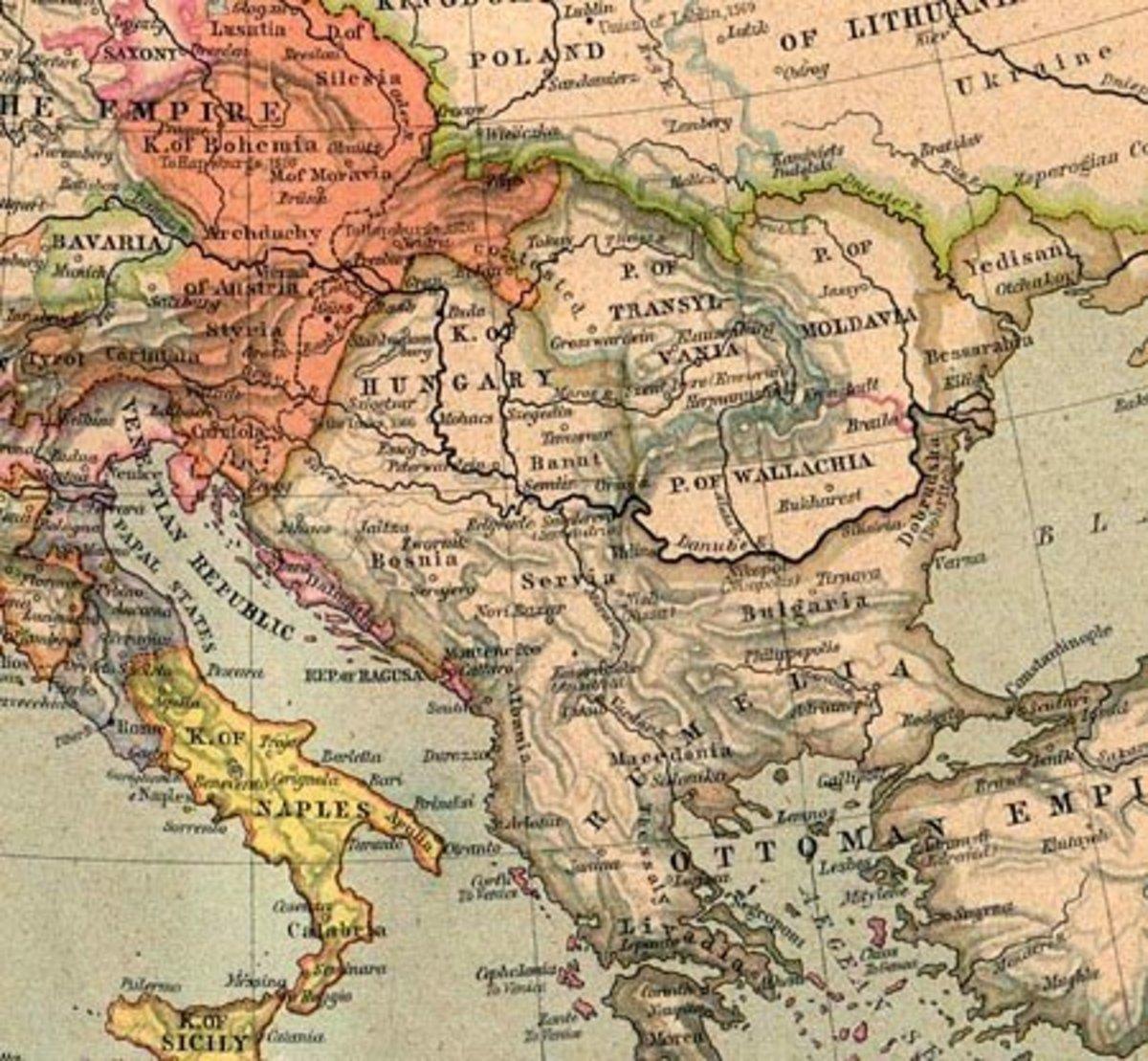 Wallachia and Moldavia became Romania, and Vlad was a Prince of Wallachia