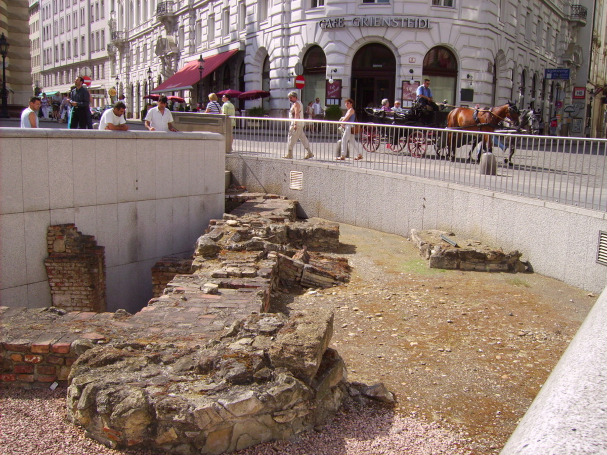 Roman Ruins in Central Vienna