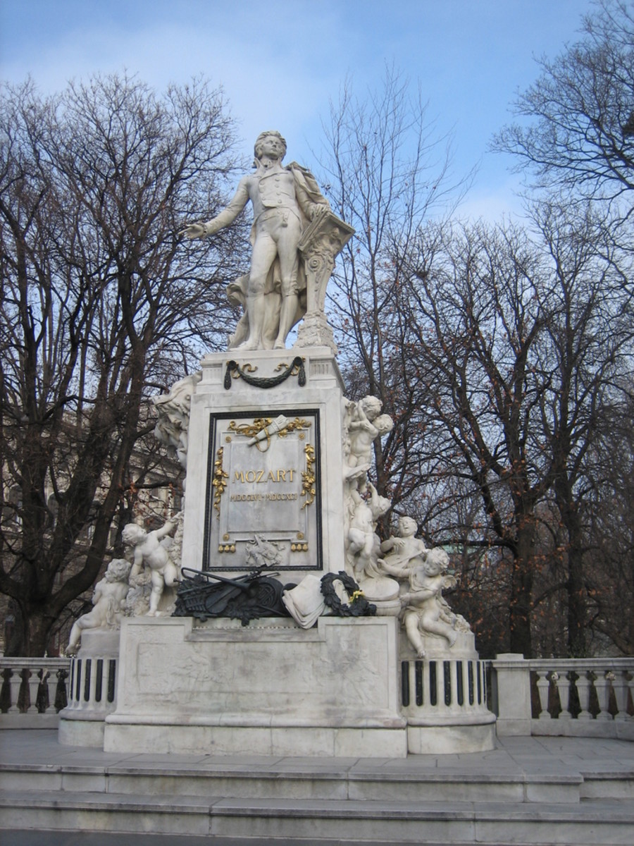 Statue of Mozart in Vienna