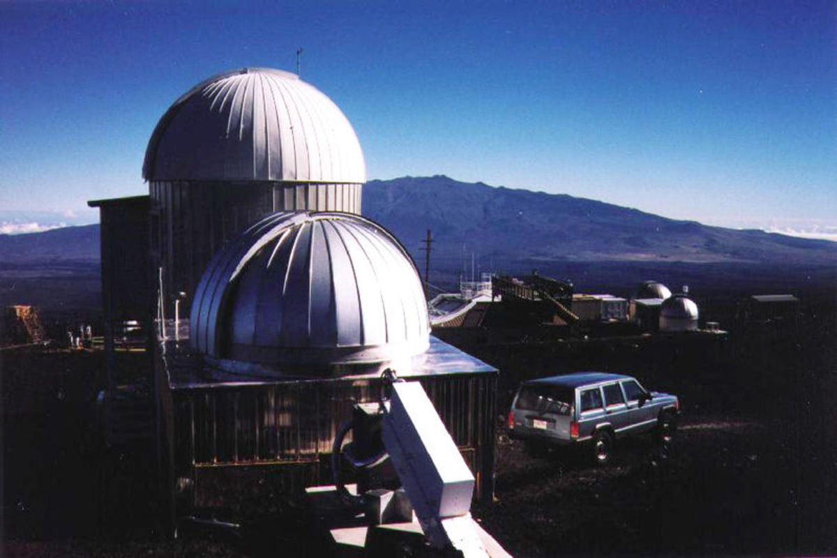 Solar Observatory domes at Mauna Loa Observatory.  The Solar observatory is a fitting companion to the main atmospheric observatory.  Image courtesy Wikipedia.