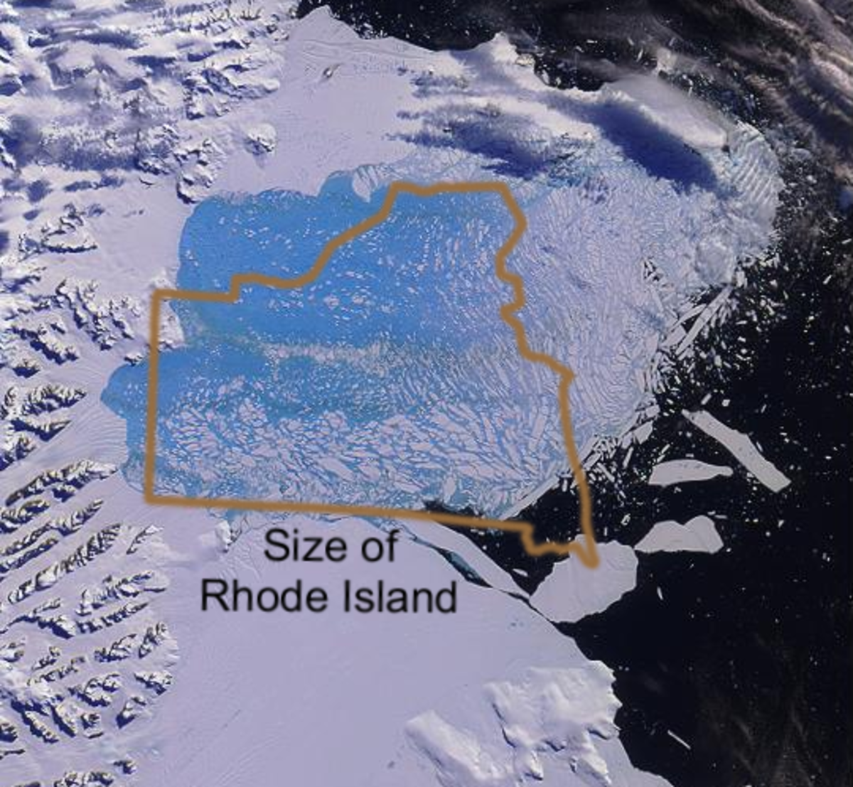 """Ice shelves do not raise sea level when they melt, but do seem to accelerate the flow of land-bound ice into the sea--one of the """"unknowns"""" of global warming.   Image courtesy Global Warming Art."""