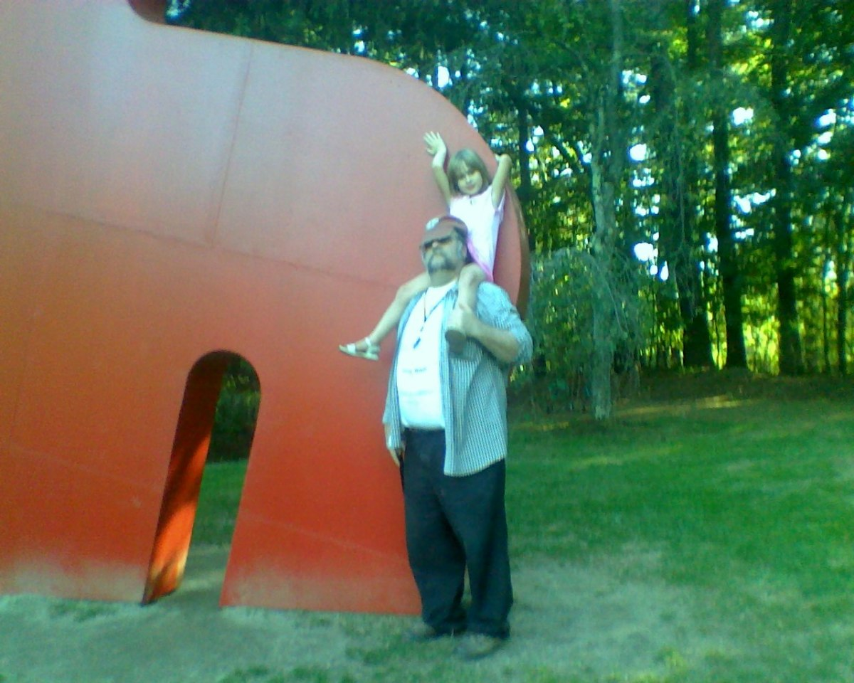 Cosette + Papa = Ozymandias at DeCordova Sculpture Park