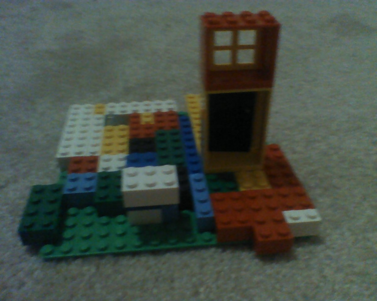 The Legos she loves to build with