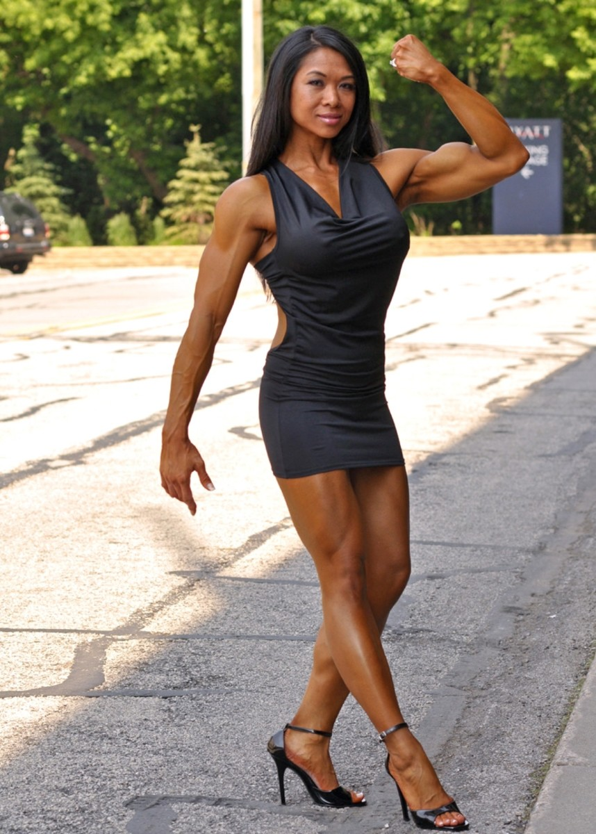 Janet Gerber - Asian Female Bodybuilder