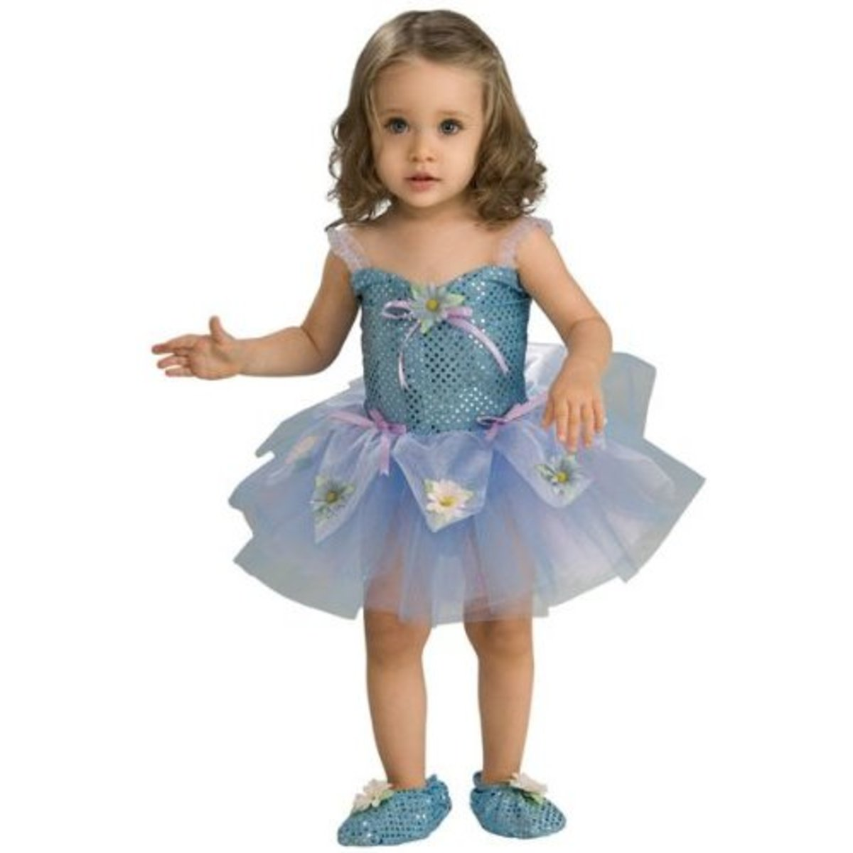 This toddler daisy costume shows how you can easily transform a garden-variety tutu into a gorgeous flower! Photo from Amazon.com