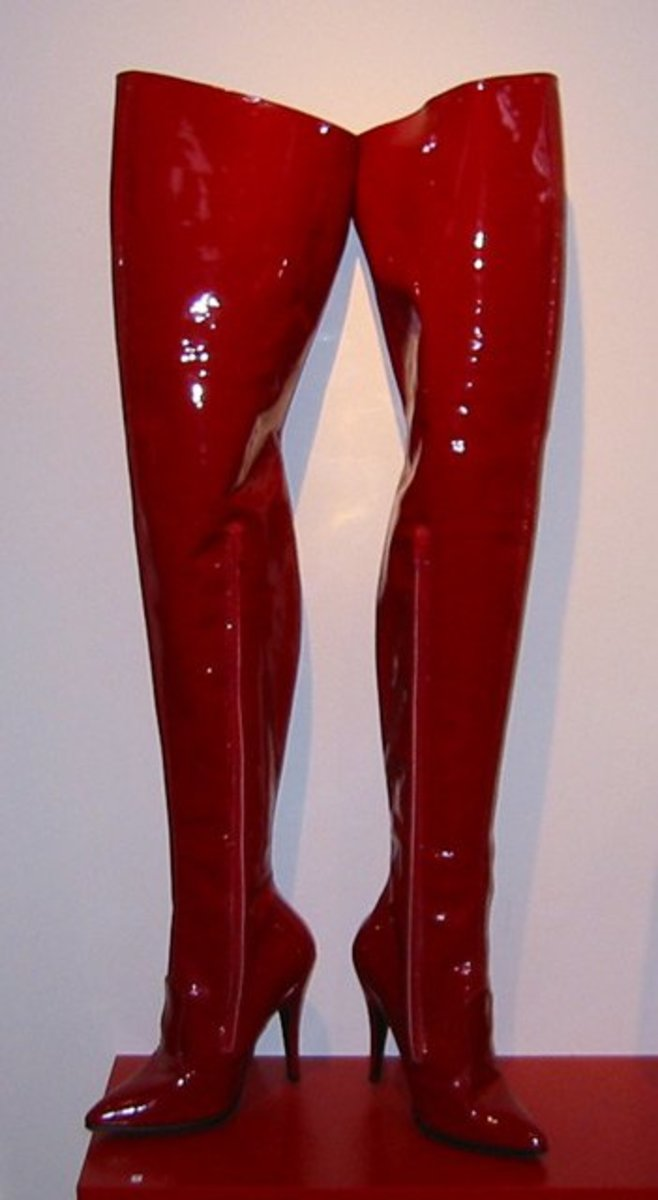 Photo taken in 2003 at a shoe exhibition at Drammen Museum in Drammen, Norway.