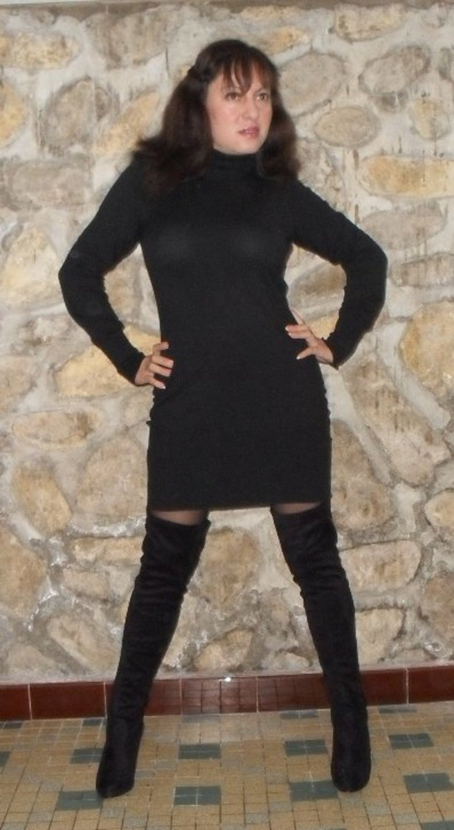 Here I am Wearing Thigh High boots from La Redoute. 2011
