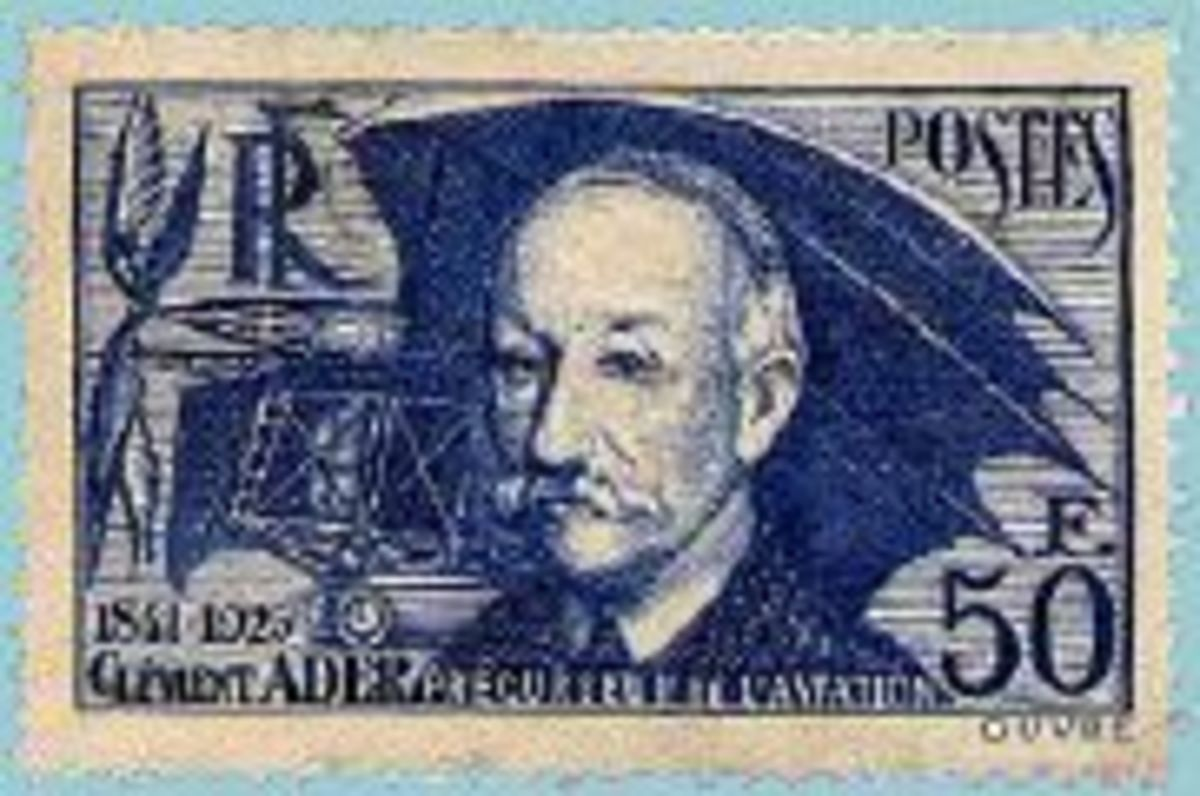 French stamp commemorating Clement Ader - 1938
