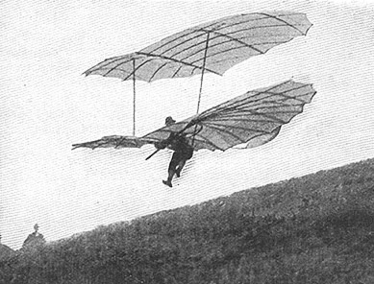 Lilienthal glider German aviation pioneer Otto Lilienthal